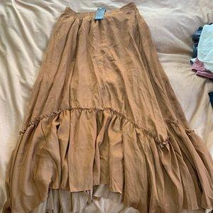 NastyGal bronze maxi skirt